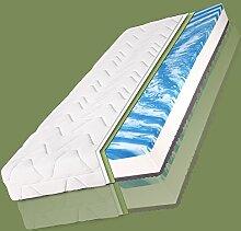 Kaltschaum Matratze 7 Zonen Jette Plus Komfort Gelschaum 90x200 140x200 Premium, Breite x Länge:90cm x 200cm mit 7 Zonen