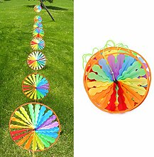 Kalttoy 8pcs Rad Rainbow Windmill Wind Spinner