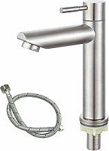 Kaltwasser-Wasserhahn für Badezimmer, Edelstahl,