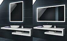 KALTWEIß 60x80 / 80x60 cm Design Badspiegel mit LED Beleuchtung von Artforma | Wandspiegel Badezimmerspiegel |Spiegel nach Maß