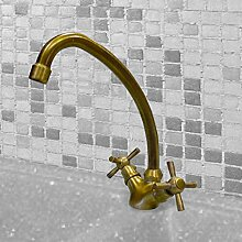 KAM Wasserhahn Messing antik bronziert für