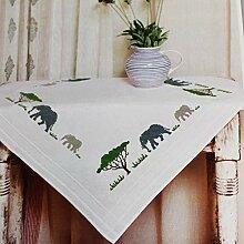 Kamaca Stickpackung Tischdecke Elefanten IN Afrika