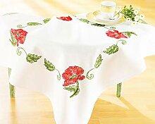 Kamaca Stickpackung Tischdecke Mohnblumen