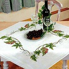 Kamaca Stickpackung Tischdecke Wein Kreuzstich