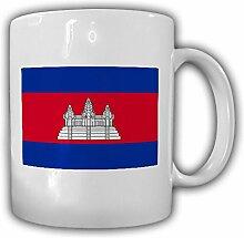 Kambodscha Fahne_Flagge Flag Kaffee Becher #13529