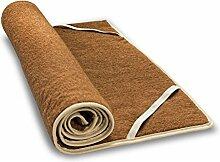 Kamel-Kinder-Plüschunterbett aus Kamelflaumhaar und Schafschurwolle 40x80 cm, Baumberger. Matratzenauflage, Matratzenschoner