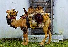 Kamel mit Gepäck für 9-10 cm Figuren. Aus
