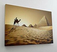 Kamel Pyramiden Wüste Ägypten Sand Leinwand Bild