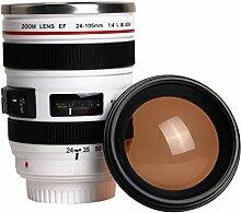 Kamera-Objektiv-Schale mit Deckel-Reise-Becher,