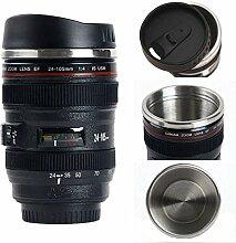 Kameraobjektiv-Kaffeetasse mit Deckel,