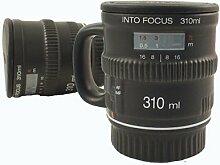 Kameraobjektiv Kaffeetasse mit Henkel - Objektiv Kaffeebecher Tasse Into Focus Becher mit Henkel