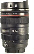 Kameraobjektiv Tasse Kaffeetasse für Kamera Fans EOS 24-105mm Modell Edelstahl + Gift Beutel DC139