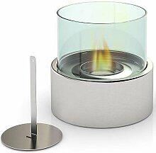 Kamin gehärtetem Glas Kamin Feuerstelle Brenner