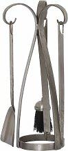 Kaminbesteck-Set Eklund aus Stahl