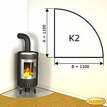 Kaminbodenplatte Funkenschutz Aluminium Kaminofen Ofen Kamin K2 - 1.100 x 1.100 x 2 mm (Aluminium)