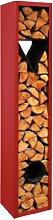 Kaminholz-Regal UNIQUE rot H 200 cm - (6.233.200