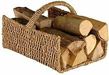 Kaminholzkorb Brennholzkorb ca. 50x40x36cm Holzkorb Kaminkorb Kamin Korb Brennholz