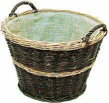 Kaminholzkorb rund mit Jutefutter Art. 496