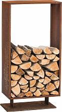 Kaminholzständer Cubito-rost-30x30x60 cm