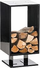 Kaminholzständer Cubito-schwarz-30x30x60 cm
