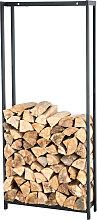 Kaminholzständer Forest-schwarz/matt-100x45 cm