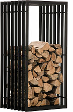 Kaminholzständer Irving-40x50x100 cm-schwarz_matt