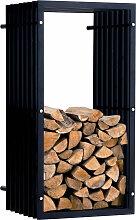 Kaminholzständer Irving Wand V3-schwarz-40x50x100