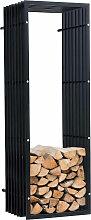 Kaminholzständer Irving Wand V3-schwarz-40x50x150