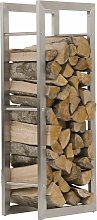 Kaminholzständer Keri-25x60x150-edelstahl