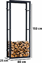 Kaminholzständer Keri Wand V3-25x80x150 cm