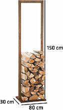 Kaminholzständer Sidone V2 rost-80x150 cm