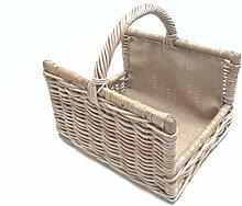 Kaminkorb, Holzkorb, Erntekorb, Zeitungskorb aus