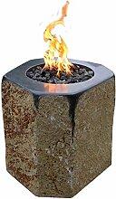 Kaminlicht Gas-Feuerstelle Derby aus Basalt