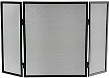 Kamino-Flam 125401 Funkenschutzgitter, Metall, Eisen, Edelstahl 96.5 x 2 x 61 cm, schwarz