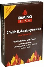 Kamino Flam 333140 KaminoFlam Rußentferner zur Reinigung von Kamin & Kachelofen-Hochleistungs Entrußer für den Kaminofen-Kaminreiniger Platten für Holz & Kohle Ofen, Braun/Beige