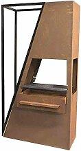 Kaminofen Barbeque kpl. H:190cm B:85cm T:35cm rostbraun Stahlblech 35x85x190cm