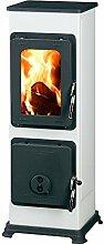 Kaminofen Bozen 91x28,8x33cm 5,0KW weiß Feuerstelle Ofen Kamin Werkstattofen