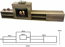 Kaminofen Ethanol & Gelkamin Sideboard modern 2,75m Limited Edition (Ahorn)