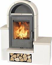 Kaminofen Fireplace Serena Keramik Beige 7kW
