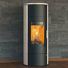 Kaminofen Königshütte Taurus Aqua, wasserführend (8 kW) Seitenverkleidung Stahl mit Topplatte Vanilla