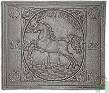 Kaminplatte Ofenplatte Metallbild Wandbild Relief für Kamin aus Gusseisen | Maße: 470x390 mm