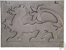 Kaminplatte Ofenplatte Metallbild Wandbild Relief für Kamin aus Gusseisen | Maße: 465x350 mm
