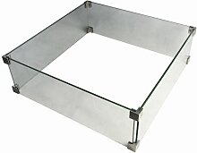 Kaminumrandung aus Glas