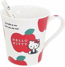 Kamio Japan Hello Kitty Tasse Apple Muster