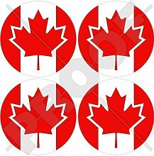 KANADA Kanadier 50mm Auto & Motorrad Aufkleber, x4 Vinyl Stickers
