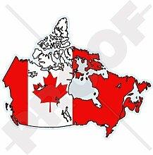 KANADA Kanadische Kartenflagge 136mm Auto & Motorrad Aufkleber, Vinyl Sticker