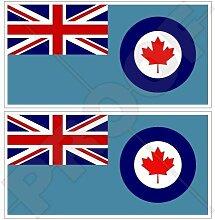 KANADA Kanadische Luftwaffe RCAF Flagge 75mm Auto