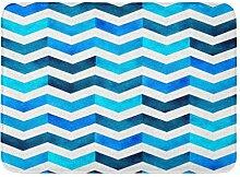 Kanaite Badteppich Lila Wasserfarbe Handbemalung