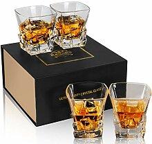 KANARS 4-teiliges Whiskygläser Set, Bleifrei