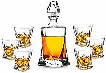 KANARS 7-teiliges Whisky Karaffe Set, Bleifrei